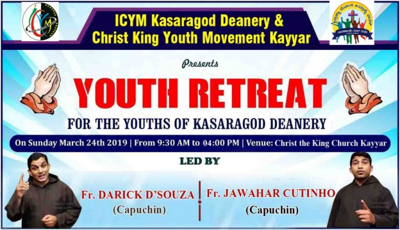 ICYM Kasargod Deanery in collaboration with ICYM Kayyar Unit to hold Youth Retreat on March 24