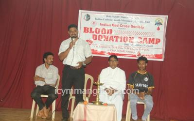 ICYM Sampige unit in collaboration with Red Cross Society organises Blood Donation Camp