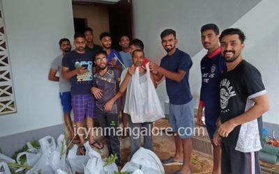 ICYM Bajpe unit distributed vegetables for the needy families
