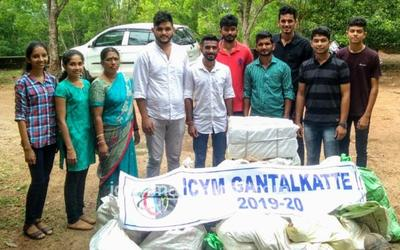 ICYM Gantalkatte Unit distributes free books , donates mid-day meal items to Adarsh High School, Taccode