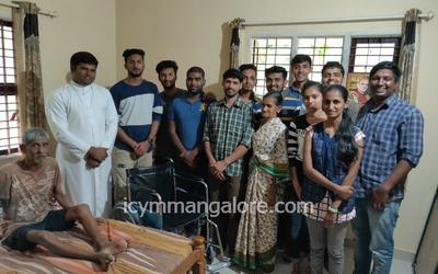 ICYM Madanthyar unit distributes Wheel chair and Water Bed to the needy