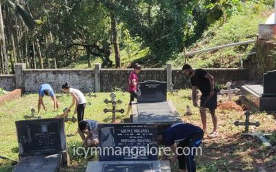 ICYM Pakshikere unit organises Cemetery Cleaning