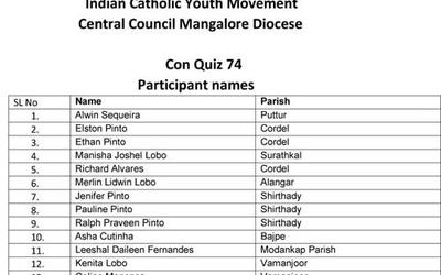 ICYM Central Council organises Con Quiz - 74