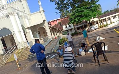 CAL Bendur takes initiative of repainting the church parking lots