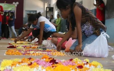 ICYM Bajal unit holds 'Flower Petal Rangoli Competition' for children