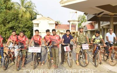 ICYM Mulki unit organises Cycle rally to create awareness on blood donation camp