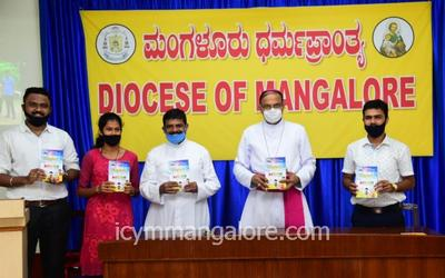ICYM Diocese of Mangalore launches two books 'UDKANA' and 'SHIBIRADAATAGALU' to the public