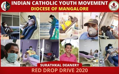 ICYM Mangalore diocese organises Red Drop Drive 2020